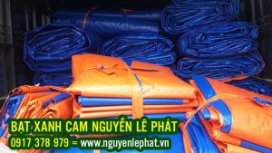 Cung Cấp Bạt Xanh Cam Che Phủ Công Trình Giá Rẻ Khổ 6m, 8m,10m